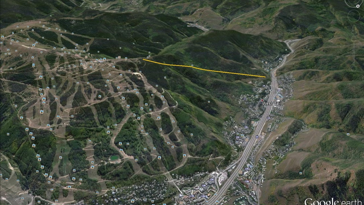 West Vail Aerial with Ski Lift Line